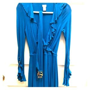 Blue Cache knit belted dress size 2 gorgeous!